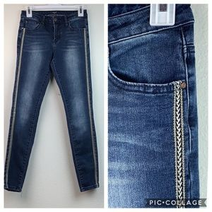 Milan, Italy V19.69 brand silver trim skinny jeans